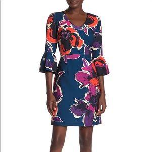 Trina Trina Turk Mamie Vneck floral dress NWT